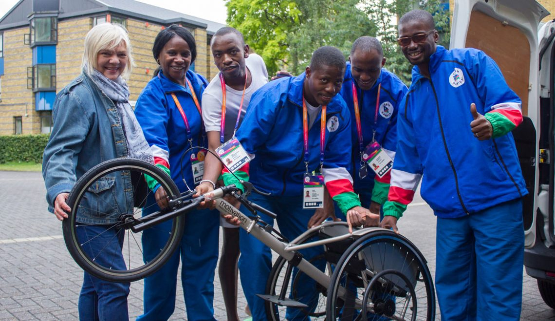 NPC Namibia receives racing wheelchairs from IWAS