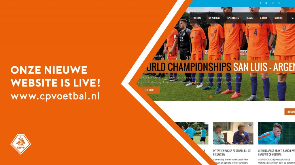 Website CP-voetbal